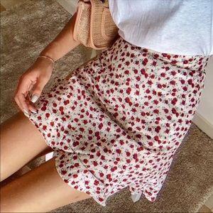 Floral rose skirt